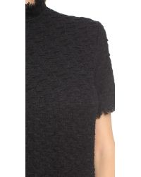 Nina Ricci Black Short Sleeve Tweed Dress - Noir