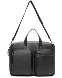 DIESEL | Black Leather Crash Briefcase for Men | Lyst