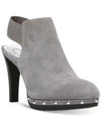 Franco Sarto - Gray Elice Studded Mules - Lyst