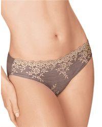 Wacoal | Brown Embrace Lace Bikini Panties | Lyst