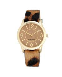 Nine West - Multicolor Zadie Leopard Print Watch - Lyst