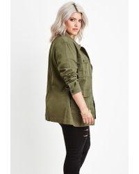 Forever 21 Green Plus Size Utility Jacket