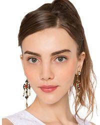 Pixie Market - Metallic Heritage Cross Chandelier Earrings - Lyst