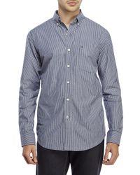 Izod | Blue Stripe Patch Pocket Sport Shirt for Men | Lyst