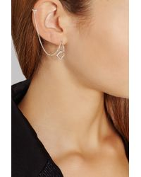 Pamela Love Metallic Mini-Machina Silver Earring And Ear Cuff