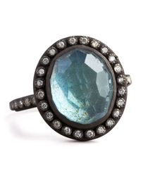 Armenta - Multicolor Labradorite & Pave Diamond Ring - Lyst