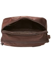 "Lipault | Brown 10"" Dual Compartment Toiletry Kit 