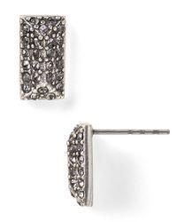 Rebecca Minkoff Metallic Pave Brick Spike Stud Earrings