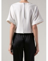 Adam Lippes - White Zip Cropped Top - Lyst