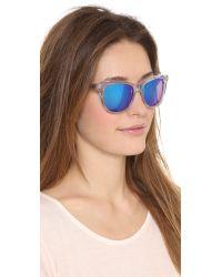 Wildfox | Blue Catfarer Deluxe Sunglasses | Lyst