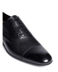 Paul Smith - Black Clapton Grainly Leather Oxfords for Men - Lyst