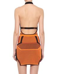 Alexander Wang Orange Halterneck Mini Dress