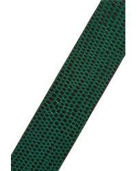 Tory Burch - Green Croc-effect Leather Belt - Lyst