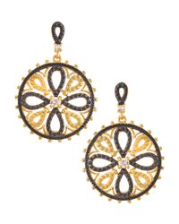 Freida Rothman | Multicolor Cz Floral Filigree Dangle Earrings | Lyst
