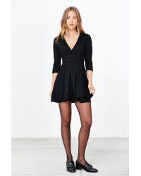 Kimchi Blue | Black Cozy Ballet Wrap Dress | Lyst