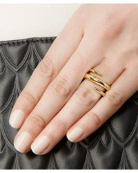 Jennifer Fisher | Metallic Gold-plated Twisted Cylinder Ring | Lyst