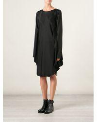 MM6 by Maison Martin Margiela Black Cape Sleeve Shift Dress
