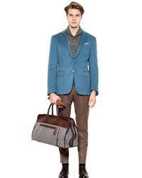 Canali Blue Two-Button Cashmere Jacket for men