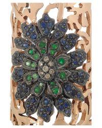 Ileana Makri - Pink Shield 18-Karat Rose Gold Multi-Stone Ring - Lyst