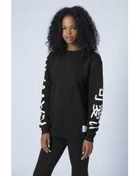 TOPSHOP Black Kawaii Sweat By Escapology