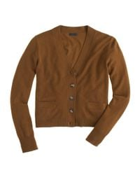 J.Crew - Natural Collection Cashmere V-neck Cardigan Sweater - Lyst