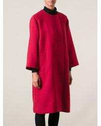 Dolce & Gabbana - Pink Oversized Coat - Lyst