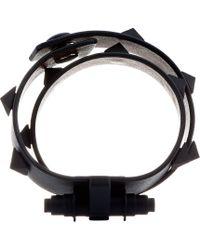 Givenchy Black Pyramid Stud Obsedia Wrap Bracelet