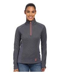 Spyder | Pink Valor Half Zip Mid Weight Core Sweater | Lyst