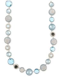 Judith Jack - Metallic Silver-Tone Blue Multi-Crystal Marcasite Necklace - Lyst