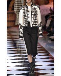 Dolce & Gabbana   White - Floral Lace Bib Blouse - Women - Silk/cotton/polyamide - 44   Lyst