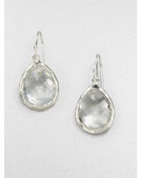 Ippolita | Metallic Rock Candy Clear Quartz & Sterling Silver Mini Teardrop Earrings | Lyst