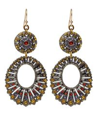 Lulu Frost - Yellow Crystal Roma Earrings - Lyst