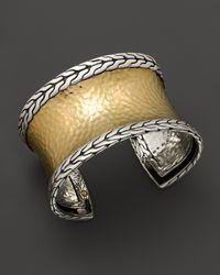 John Hardy   Metallic Palu 18k Gold And Silver Medium Cuff   Lyst