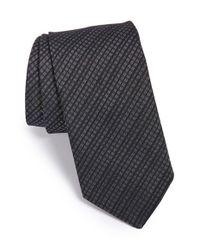 John Varvatos | Black 'new Gingham' Silk Blend Tie for Men | Lyst