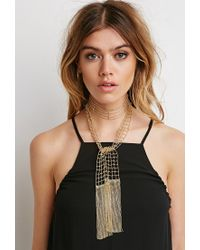 Forever 21 Metallic Ball Chain Wrap Necklace