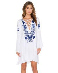 Glamorous White Peasant Dress