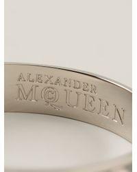 Alexander McQueen - Metallic Skull Bracelet - Lyst