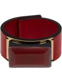 Marni | Red Resin Cuff Bracelet | Lyst