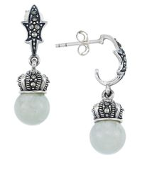 Lord & Taylor | Green Sterling Silver Crown Drop Earrings | Lyst