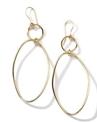 Ippolita | Metallic 18k Gold Glamazon Simple Wavy Snowman Earrings | Lyst