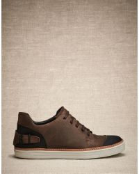 Belstaff - Brown Trialmaster Low Top Trainer for Men - Lyst