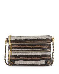Elliott Lucca | Brown Messina Snake-Embossed Leather Clutch Bag | Lyst