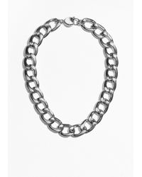 & Other Stories - Metallic Curb Chain Necklace - Lyst