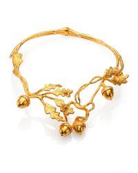 Alexander McQueen | Metallic Leaves Acorn Choker Necklace for Men | Lyst