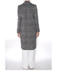 Carven - Gray Manteau Bouclé Coat - Lyst