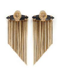 Iosselliani Metallic Panther Earrings