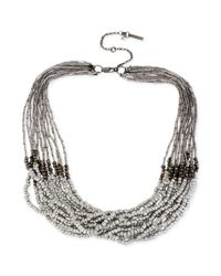 Kenneth Cole | Black Beaded Multi-Strand Necklace | Lyst