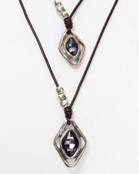 "Uno De 50 - Metallic Harmonic Dual Layer Necklace, 16"" - Lyst"