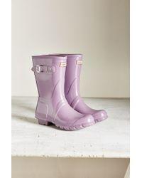 HUNTER | Purple Original Short Gloss Boot | Lyst