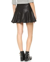 Free People | Black About A Girl Faux Leather Skirt | Lyst